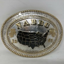 VTG NIP Award Design Medals Silversmith NABBC 1991 United States Belt Bu... - $123.74
