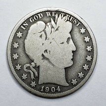 1904S San Francisco Mint Silver Barber Half Dollar Lot A 177