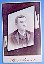 Cabinet Photo of Man by L. Karmel of 91 Water St., Newburgh, NY - $9.50