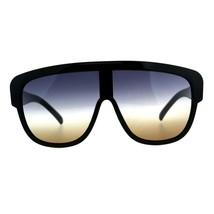 Oversized Sunglasses Arched Top Futuristic Shield Frame Gradient Lens UV400 - $10.95