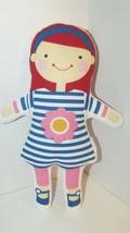 Sophi Lili GIGI Doll cloth fabric red hair blue striped pink flower dres... - $8.90