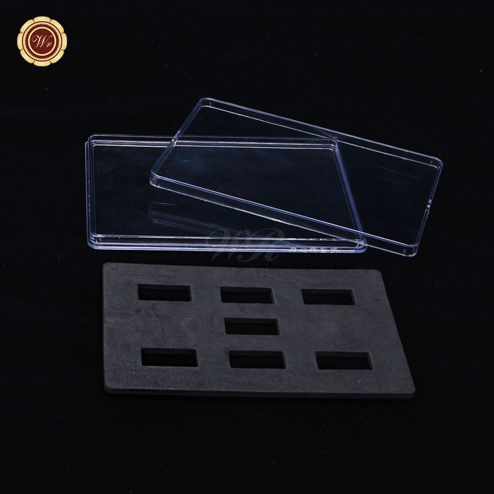 WR Clear Acrylic Display Holder Suitable for Storage 7pcs 40*20mm Bullion Bars