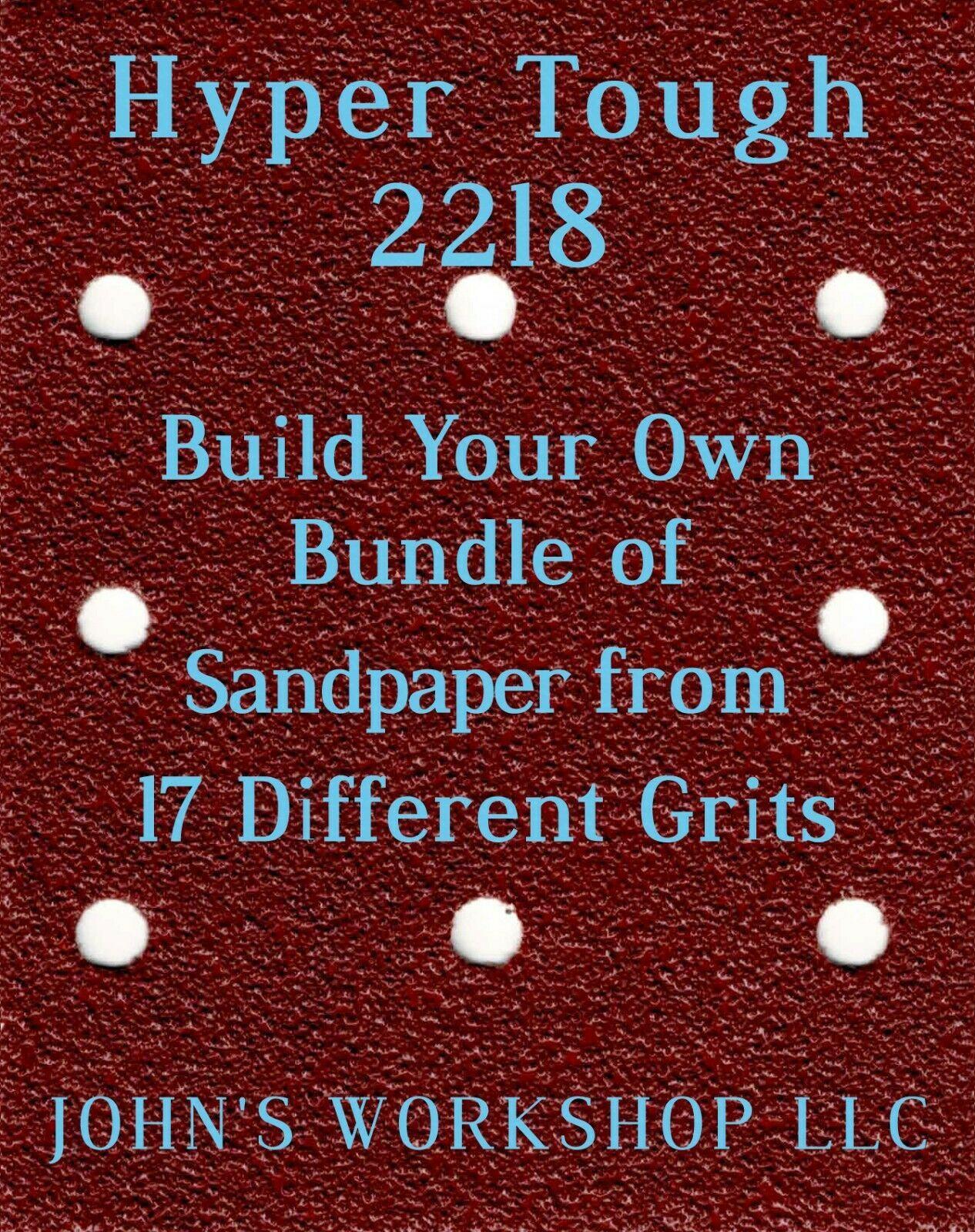 Build Your Own Bundle Hyper Tough 2218 1/4 Sheet No-Slip Sandpaper 17 Grits - $0.99