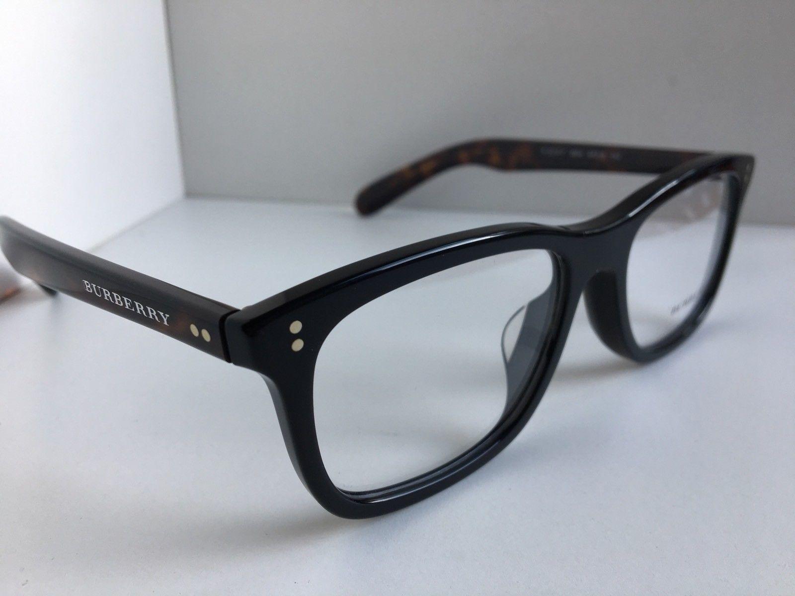 429f1f00979e New BURBERRY B 2212-F 3554 54mm Black Rectangular Rx Men s Eyeglasses Frame