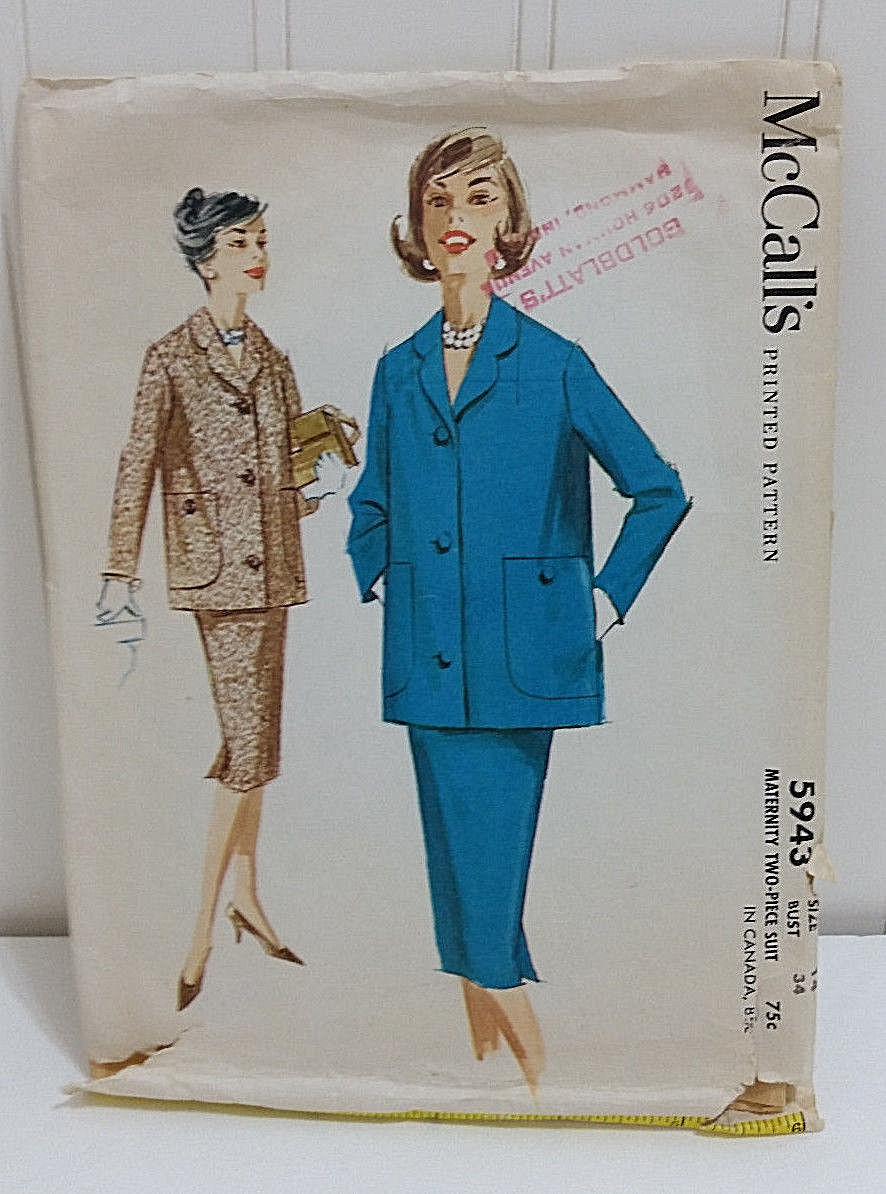 1961 MCCALL'S Vtg Sewing Pattern 5943 and 35 similar items