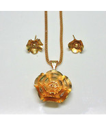 Indian Ethnic Bollywood Gold Plated Flower Jewelry Pendants Necklaces Sets - $9.60