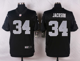 Men's Bo Jackson Jersey #34 Oakland Raiders Black Stitched Football Jersey - $35.99