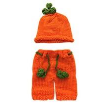 Pinbo® Baby Boys Girls Photography Prop Crochet Halloween Pumpkin Hat Sh... - $17.16