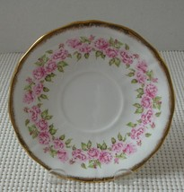 """ADDERLEY LAWLEY Bone China """"REPLACEMENT"""" SAUCER Small Pink Roses Gold Sc... - $9.69"""