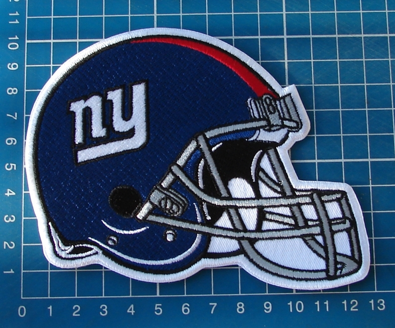 "Primary image for NEW YORK GIANTS FOOTBALL NFL SUPERBOWL 5"" PATCH HELMET JERSEY SEW ON EMBROIDERY"