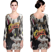 Cheers  80's Tv Show Women Sexy Long Sleeve Bodycon  Dress - $24.80+