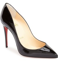 Christian Louboutin PIGALLE  Pumps Shoes 38 Black Patent Leather - $379.99