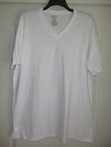 Nordstrom MENS SHOP V-Neck SSL Supima Cotton T-Shirt White XXL UPC63  - $7.26