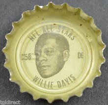 Coca Cola NFL All Star King Size Coke Bottle Cap Green Bay Packer Willie Davis - $6.99