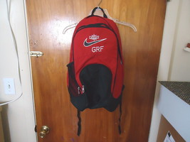 "Vintage ? Nike Legacy G R F Red And Black Backpack "" Beautiful Collectible Useab - $46.74"
