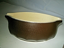 Vintage Mikasa Indian Feast Gravy Boat Bark Brown with double spout DE800 - $13.99