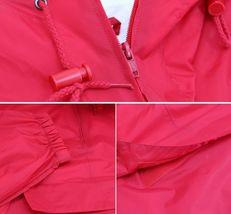 Men's Water Resistant Windbreaker Hooded Half Zip Pullover Rain Jacket image 7