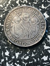 1601 Germania Saxony 1 Thaler Lotto #Jm792 Grande Moneta D'Argento! 3 Br... - $375.42