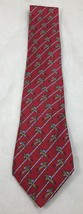 "Hermes Paris Red Horse Racing 7385PA Silk Necktie Tie 59"" 150cm 3.75"" 9.5cm - $123.75"