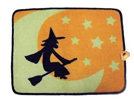Indoor Rectangle Halloween Flying Witch Fall Spooky Nonslip Decorative R... - $8.90