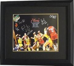 Clemon Johnson signed Philadelphia 76ers 16x20 Photo Custom Framed 1983 ... - £152.04 GBP