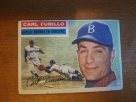 1956 Topps #190 Carl Furillo Brooklyn Dodgers Baseball Card          - $12.38