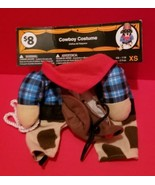 Pet Holiday Dog Clothes XS Halloween Costume Canine Cowboy Animal Outfit... - $7.59