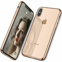 Ultra Slim Clear Back Case For Iphone Xs Max Xs Xr Soft Tpu Back Plate C... - $9.89