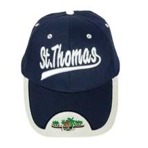 St Thomas Paradise Palm Tree Blue Baseball Strapback Hat Adjustable Size... - $30.69