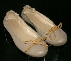 Sperry Top-Sider Thalia Rose taupe round toe lace up scrunch ballet flats 8.5M - $33.30