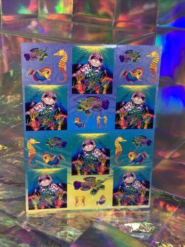 SALE⚡️S278  Lisa Frank Skeeter The Seal Rainbow Reef Sticker Sheet Full