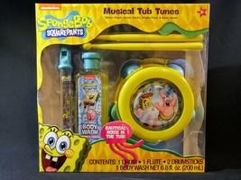 Spongebob Musical Tub Tunes Set Drum Sticks Flute Pineapple Wash NEW - $14.85