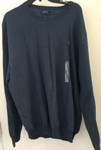Polo Ralph Lauren Pull over Sweater Size 2X Navy Knit Ribbed Cuff NWT - $45.99