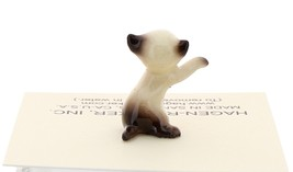 Hagen-Renaker Miniature Cat Figurine Tiny Siamese Kitten Boxing Seal Point image 3
