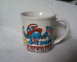 I smurf america coffee tea mug  cup 1982 - $8.86
