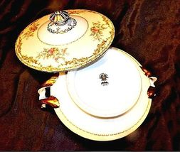Noritake China Nana Rosa Pattern # 682 Tureen Serving AB 336-G Vintage 2 Piece image 5
