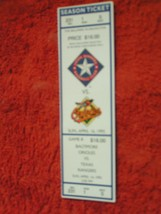MLB 1995 Texas Rangers Ticket Stub Vs. Baltimore Orioles 4/16/95 - $3.49