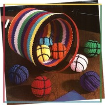 Z500 Crochet PATTERN ONLY Basket and Balls Toys for Kids Pattern - $7.50