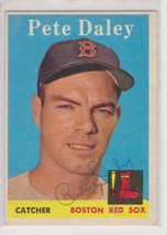 Pete Daley Signed Autographed 1958 Topps Baseball Card - Boston Red Sox - $19.99