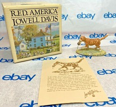 """Lowell Davis """"Finders Keepers"""" Figurine  1989 Schmid IOB Card Cat Mouse - $74.23"""