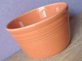 Retired Fiesta tangerine orange ceramic pottery flower pot planter ONLY - $58.41
