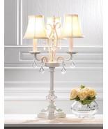 WHITE CHANDELIER Table Lamp Indoor Accent Lighting - $74.00