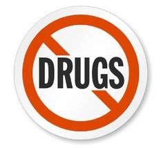 Drug Free Say No To Drugs Hard Hat Decal Hardhat Sticker Helmet Label H201 - $1.79+