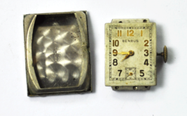 Benrus AC 13 17J Swiss Watch Movement & Steel Case Back Parts or Repair - $14.84