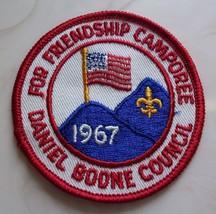 Vintage Boy Scouts Patch For Friendship Camporee Daniel Boone Council 1967-VTG - $9.05