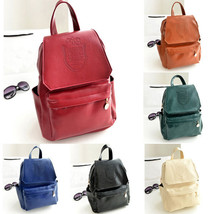 Womens Tote Handbag School Camping Faux Leather Shoulder Book Bag Backpa... - $20.59
