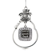 Inspired Silver World's Best Gymnastics Coach Classic Snowman Holiday Decoration - $14.69