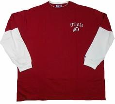Utah Utes Shirt Men's Big & Tall Layered Long Sleeve Tee Athletic T-Shirt