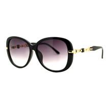 Womens Square Frame Sunglasses Classy Chain Temple Design UV 400 - $10.95