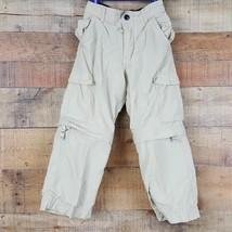 OshKosh Boy's Convertible Cargo Pants Cotton Lined Size 4 Khaki PP10 - $8.41